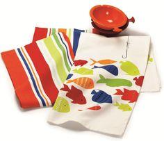 Swimming Fish Dishtowels S/2