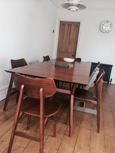 2 x Jacob Dining Chairs in natural walnut | made.com