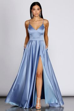 Devon Tulle A-Line Dress – Windsor Pretty Prom Dresses, Prom Dresses Blue, Dance Dresses, Elegant Dresses, Baby Girl Dresses, Homecoming Dresses, Cute Dresses, Beautiful Dresses, Bridesmaid Dresses