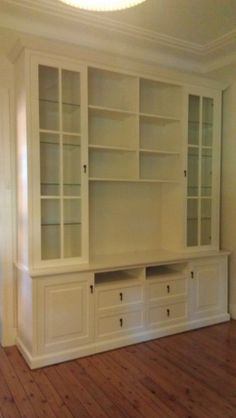 Built In Bookcase Wall Units | Wall unit with base cabinets | First ...