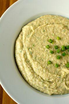 White Bean-Garlic Scape Dip
