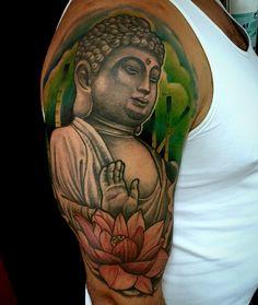 Buddha tattoo by Juan David Castro R