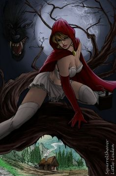 Red riding hood sexy art for sale