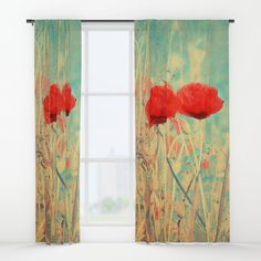 Buy Poppies vintage(3) Window Curtains by maryberg. Worldwide shipping available at Society6.com. Just one of millions of high quality products available.