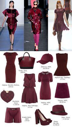 Burgundy Trend, fall 2012