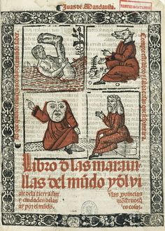 JEAN DE MANDEVILLE (ca. 1300-1372). «Libro de las maravillas del mundo», Valencia, 1524.