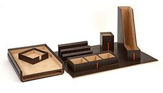 Carson Desk Set with Gift Box - Desk Organizer - Office Gifts - Desk Accessories - Executive Gifts - Business Gifts | HomeDecorators.com