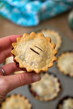 Mini mixed berry pies are cute, and delicious! Easy muffin tin hand pies that are packed with fresh berries and simple ingredients for the perfect dessert.