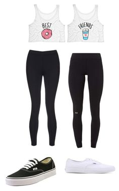 """Bff"" by berlyn-ava ❤ liked on Polyvore featuring Under Armour, Sweaty Betty and Vans"