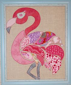 flamingo applique pattern ~ Be a flamingo in a flock of pigeons Applique Patterns, Applique Quilts, Applique Designs, Quilt Patterns, Flamingo Craft, Flamingo Pattern, Flamingo Garden, Quilting Projects, Sewing Projects
