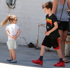 Harper and Cruz and The Beckham family out and about, Los Angeles, America - 08 Apr 2015