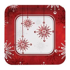 Falling Flakes 9 Inch Dinner Plates Square/Case of 96