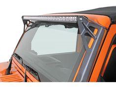 """Rigid Industries 50"""" E/SR Series Jeep JK Upper Windshield Mount Kit - Black"""
