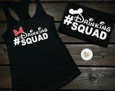 Funny Disney Shirt | Disney Food And Wine | Food And Wine Shirts | Epcot Food And Wine | Disney Squad | Disney Couple Shirts, Drinking Squad