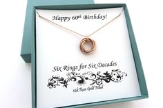 New in our shop! 60th Birthday Gift for Women | Rose Gold Ring Necklace http://marciahdesigns.com/products/60th-birthday-gift-rose-gold?utm_campaign=crowdfire&utm_content=crowdfire&utm_medium=social&utm_source=pinterest