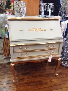 Latest project complete! French provincial secretary. Gray/Gold/MK Collections/KJ Collections