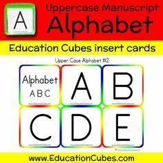 Uppercase Manuscript Alphabet (version 2) Cubes, Alphabet, Education, Learning, Shopping, Alpha Bet, Studying, Study, Teaching