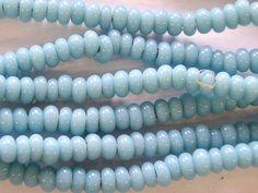 Baby Blue Rondelle Glass Beads 5-7mm (JV510)
