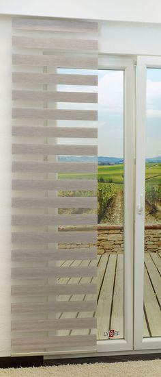 3er Set Flächenvorhang GARDINIA Day + Night BxH je 60 x 245 - Küchen Weiß Hochglanz