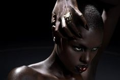Makeup for Dark Skin Black Women | If you're very dark and daring, you can try a matte black shadow ...