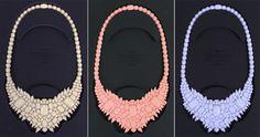 gemstone bib necklaces