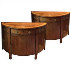 Pair of Mahogany Demilune Commodes | demi lune option 2 - printed 4/27