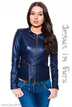 Женская кожаная куртка Elisabetta Franchi