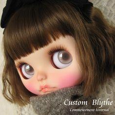 *カスタムブライス*Custom Blythe*Commencement hivernal_画像1 Blythe Dolls, Poses, Puppets, Figure Poses