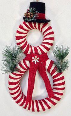 Snowman Wreath, Christmas Wreath, Snowman Door Decor, Winter Wreath, Holiday Wreath, Snowman, Burlap Wreath, Holiday Decor, Christmas Decor by CrookedTreeCreation on Etsy https://www.etsy.com/listing/254756169/snowman-wreath-christmas-wreath-snowman