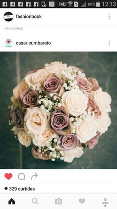 Love the baby's breath with these roses!!!!
