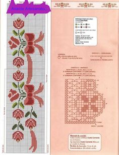 Cross Stitch Bookmarks, Cross Stitch Love, Cross Stitch Borders, Cross Stitch Alphabet, Cross Stitch Flowers, Cross Stitching, Cross Stitch Embroidery, Embroidery Patterns, Cross Stitch Patterns