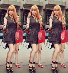 Park Bom fashion at the airport