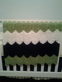 Chevron Knitted Baby Blanket multiple color options by AHRknits