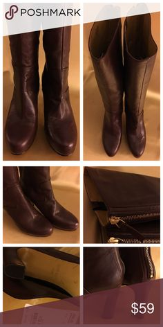 🛒 DEAL OF THE DAY⚜️ BRAND NEW NINE WEST BOOTS! Gorgeous leather boots with unique gold zippers up the length of the boot (see photos) The are pristine - new and never worn. Nine West Shoes Heeled Boots