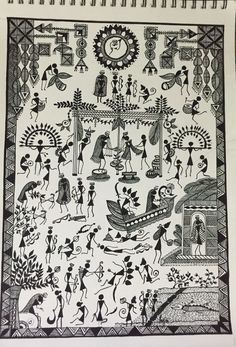 Buy Ramayana painting online - original museum quality artwork by Ragini Pandey, available at Gallerist. Check price, painting and details online. Madhubani Art, Madhubani Painting, Art Indien, Worli Painting, Indian Folk Art, Indian Art Paintings, India Art, Mural Art, Tribal Art