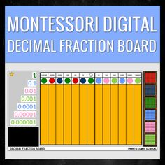 @montessoriglobal posted to Instagram: Montessori Digital Decimal Fraction Board | Distance Learning | PowerPoint Slide (also available in Google Slides) This product is a digital version of the Montessori equipment used to form and recognize decimal fractions, as well as perform the operations of addition, subtraction, and multiplication of decimal fractions. It has been designed to assist Montessori teachers when teaching remotely as well as home school parents using the Montessori Method… Multiplication, Fractions, Decimal, Montessori, Distance, Homeschool, Parents, Teacher, Learning