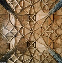 Perfect geometry: The nave of the Hieronymite Monastery in Belém, Portugal, shows the remarkable precision of the stone masons and architects that built medieval holy buildings