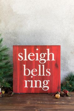 Sleigh Bells Ring Wall Decor-  gift-cl