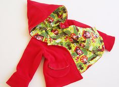 LITTLE RED Riding Hood Girl Jacket sewing pattern Pdf by PUPERITA