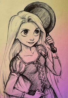 Rapunzel tekening