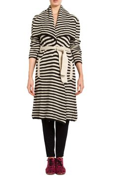 Mara Hoffman black/ivory Striped Sweater Wrap