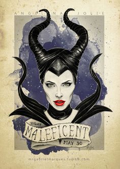 Maleficent movie poster illustration by Mr. Gabriel Marques Maleficent movie poster illustration by Mr. Maleficent Drawing, Maleficent Tattoo, Maleficent 2014, Maleficent Movie, Angelina Jolie Maleficent, Disney Pixar, Disney Villains, Disney And Dreamworks, Disney Art