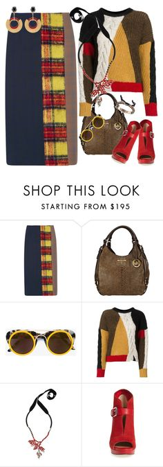 """""""Multicolor"""" by petalp ❤ liked on Polyvore featuring Acne Studios, Michael Kors, Smoke x Mirrors, Étoile Isabel Marant, Marni, MICHAEL Michael Kors and ootd"""