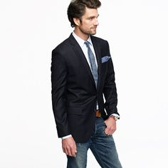 Ludlow two-button blazer with center vent