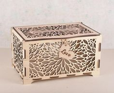 Wedding Card Box with Lock Wooden Gift Card Holder Reception Bridal Show Favors
