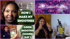 Getting started with round 2 of JJ Smith's Green Smoothie Cleanse. Here's how I mixed up the Day 1 recipe.