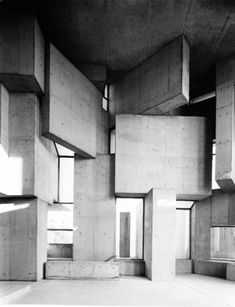 Fritz Wotruba Wotruba Church, Vienna (1976)..... Can't stop looking at this one.... #architecture #design