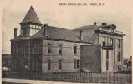 Minot Courthouse, Built 1890, Contr- Hiram T. VanWagoner, with 1904 addition