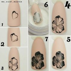 If you're looking to do seasonal nail art, spring is a great time to do so. The springtime is all about color, which means bright colors and pastels are becoming popular again for nail art. These types of colors allow you to create gorgeous nail art. Nail Art Diy, Easy Nail Art, Cool Nail Art, Diy Nails, Easy Art, Nail Nail, Flower Nail Designs, Simple Nail Art Designs, Flower Nail Art