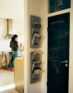 door & IKEA magazine holders
